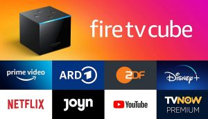 AMAZON Fire TV Cube 4K UHD Streaming-Mediaplayer + 2 Monate Zattoo Ultimate für 89,99 Euro statt 119,99 Euro